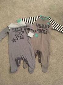 Next boys sleepsuits