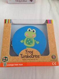 Brand New & Boxed Frog Tambourine