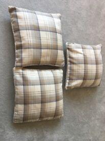 3 x Dunelm Cushions