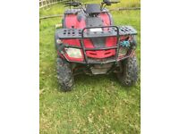 300 cc 4 Wheel drive Farm quad . needs sorting but can be a work in progress. Running but needs work