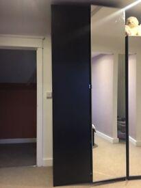 Black IKEA double wardrobe