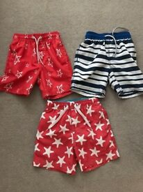 Next swim shorts x 3 Age 2-3