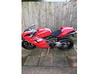 Ducati 848 road legal track day bike, mot'd, loads of extras!! Px?