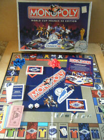 "Monopoly ""WORLD CUP FRANCE 98 EDITION"". Official licensed product by Waddingtons games."