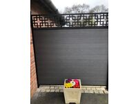MAINTENANCE FREE COMPOSITE FENCING PANEL BOARDS IN BLACK