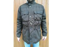 Barbour-style bike/scooter jacket Tucano Urbano; brown, armoured, waterproof, warm