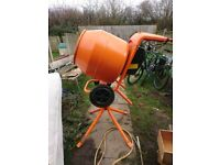 Brand new cement mixer been used twice with stand