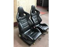Audi S3 Recaro Wingback bucket leathers seats rs4 Rs3 Rs5 Rs6