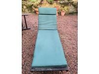 2 Garden Loungers with cushions **1 SOLD**