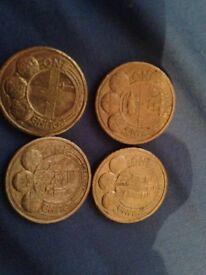 City £1 coins - Edinburgh, Belfast, London , cardiff