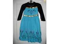 Disney Frozen Elsa Coronation (black) fancy dress costume for 7-8 years.