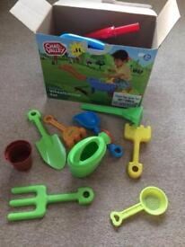 Children's garden wheelbarrow set boxed