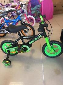 "Brand New 12"" Dragon Childs Bike"