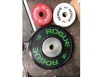 Rogue fitness bumper plates