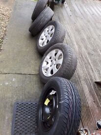 Alloys wheels peugeot 307 and battery