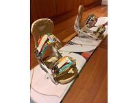 Burton Troop 146cm ladies snowboard complete with Burton Lexa bindings