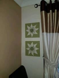 Flower canvas wall art