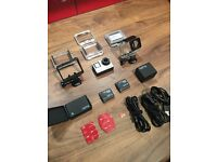 GoPro Hero 4 Black, 4K Video, Additional Batteries, Dual Charger, Mount and SD card
