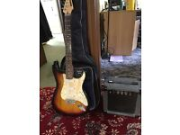 Fender Marlin guitar with beginner amp and case, great starter guitar! grab a bargain