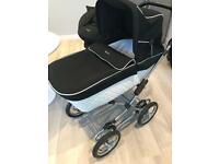 Silver cross elegance sleepover travel system pram car seat and base