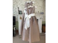 2 girls bridesmaid dresses size 8years & 6 years
