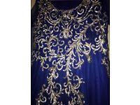 Blue maxi princess type dress