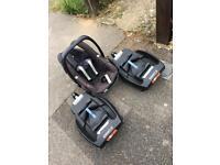 Maxi Cosi Pebble + 2 easy fix car seat bases.