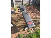 Bench and Weights - £15Pro Power - Gym workout 6.5kg x2