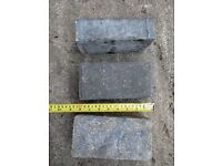 Block Paving bricks, Concrete, Charcoal 200mm x 100mm x 60mm job lot 184 bricks
