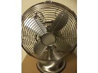"""Logik 10"""" brushed steel electric fan"""