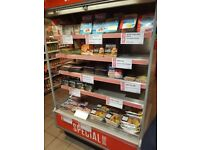 Shop fridge/ open display cabinet 1.3m wide