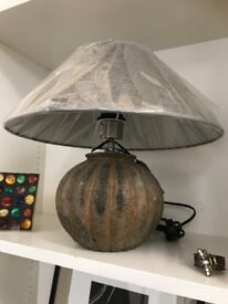 Pair of round base lamps