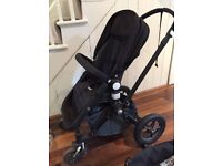 Bugaboo Cameleon (Denim) with buggy board & footmuff