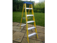 Electricians fibreglass step ladder
