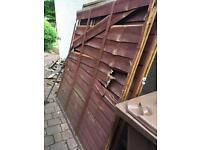 Old fence panels for repair or firewood - free