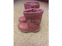Pink boots infants