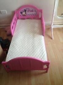 Pink (toddler) miney mouse bed.