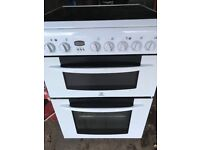 white 60cm electric cooker with double oven for sale
