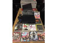 Playstation 3 Slimline 320gb Bundle 10 Games 1 Wireless Pad All Leads Boxed Excellent Condition