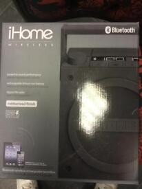 I home boombox. Wireless Bluetooth speakers. Brand new in box. RRP£70