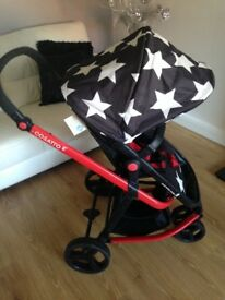 Cosatto Giggle All Stars Travel System Carrycot & Pushchair