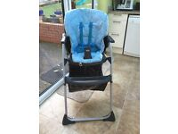 Chicco baby high chair - blue - excellent condition