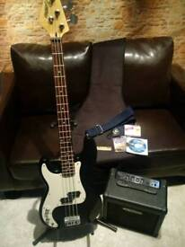 Electric LH Bass Guitar Package