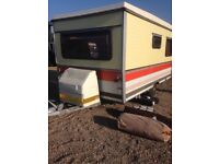 """Esterel folding caravan 13ft by 6ft 6"""" 4/5 berth all in really good condition outside awning"""
