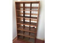 Real wood & plywood shelving unit / bookcase size 6feet high by 3 feet wide x15 inches deep