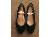 Dance character shoes size 5.5 with a Cuban heel Katz made in England