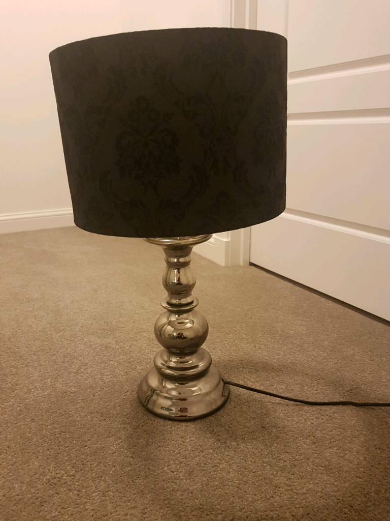 Lamp - black damask