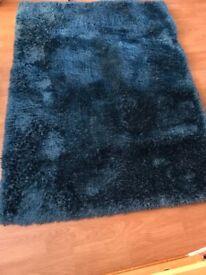 Turquoise medium rug
