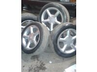 Ford alloy wheels. Cosworth look a like. Fit fiesta ka or any four stud ford