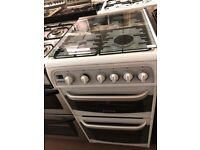 50CM WHITE CANNON GAS COOKER TWIN CAVITY